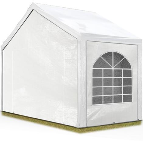 Tente Barnum de Réception 3x2 m PE Bâches amovibles 200-240 g/m² BLANC / Jardin Tonnelle Pavillon Chapiteau