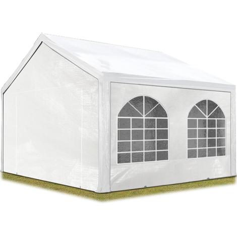 Tente Barnum de Réception 3x3 m PE Bâches amovibles 200-240 g/m² BLANC / Jardin Tonnelle Pavillon Chapiteau