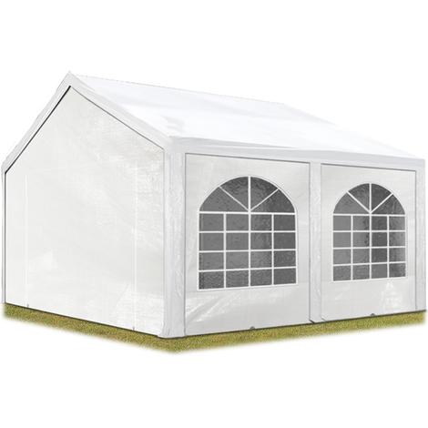 Tente Barnum de Réception 3x4 m PE Bâches amovibles 200-240 g/m² BLANC / Jardin Tonnelle Pavillon Chapiteau