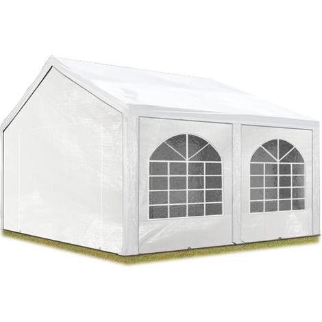 Tente Barnum de Réception 3x5 m PE Bâches amovibles 200-240 g/m² BLANC / Jardin Tonnelle Pavillon Chapiteau