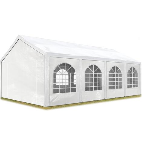 Tente Barnum de Réception 3x9 m PE Bâches amovibles 200-240 g/m² BLANC / Jardin Tonnelle Pavillon Chapiteau