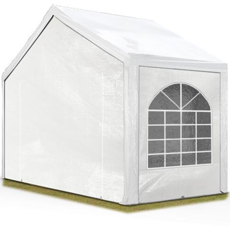 Tente Barnum de Réception 4x2 m PE Bâches amovibles 200-240 g/m² BLANC / Jardin Tonnelle Pavillon Chapiteau