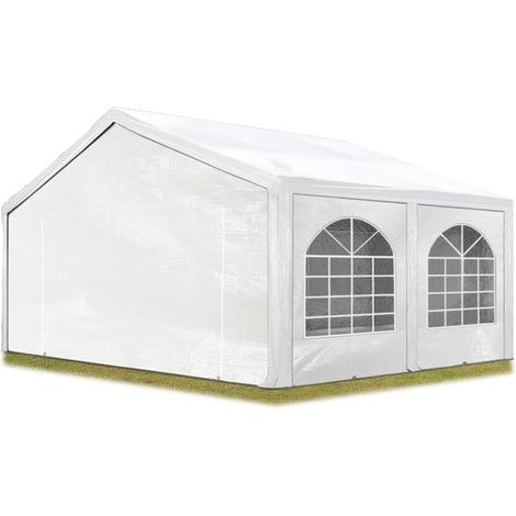 Tente Barnum de Réception 5x5 m PE Bâches amovibles 200-240 g/m² BLANC / Jardin Tonnelle Pavillon Chapiteau