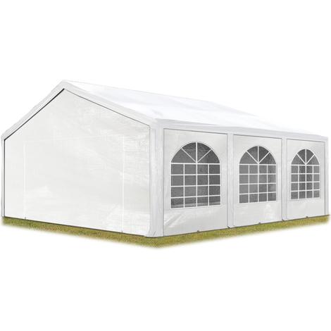 Tente Barnum de Réception 5x6 m PE Bâches amovibles 200-240 g/m² BLANC / Jardin Tonnelle Pavillon Chapiteau