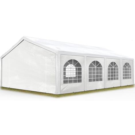 Tente Barnum de Réception 5x8 m PE Bâches amovibles 200-240 g/m² BLANC / Jardin Tonnelle Pavillon Chapiteau
