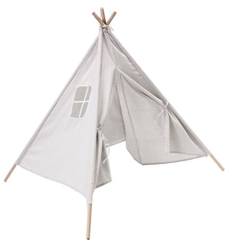 Tente blanche portable pour enfants Playhouse Sleeping Dome Tipi pour enfants à l'intérieur/à l'extérieur