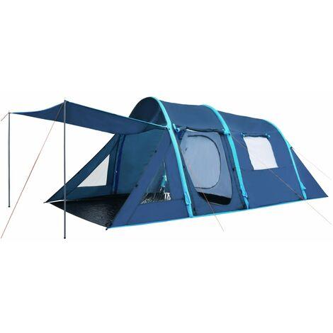 Tente de camping avec poutres gonflables 500x220x180 cm Bleu