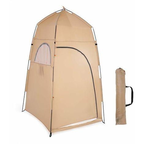 Tente De Douche Toilettes Camping Chambre Portable Changeant Sac De Douche En Plein Air - Jaune