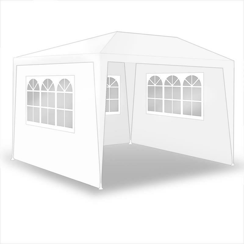 Tente de fête de pavillon Tente de jardin Pavillon de jardin Murs latéraux Weiß / 300x300x240cm mit 3 Wänden