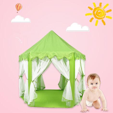 Tente de jeu pour enfants hexagonale verte