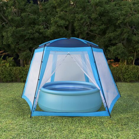 Tente de piscine Tissu 500x433x250 cm Bleu10484-A