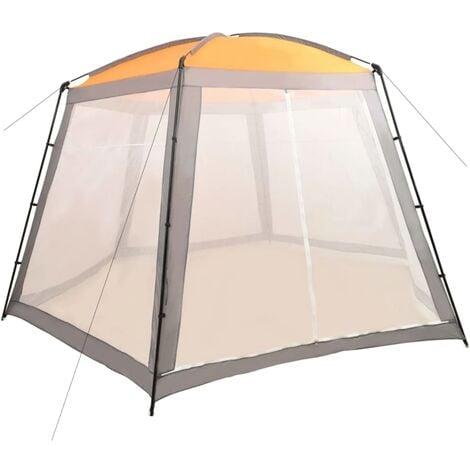 Tente de piscine Tissu 500x433x250 cm Gris