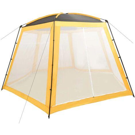 Tente de piscine Tissu 500x433x250 cm Jaune