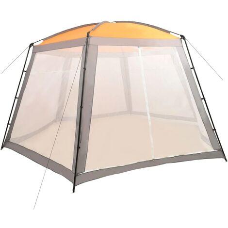 Tente de piscine Tissu 590x520x250 cm Gris