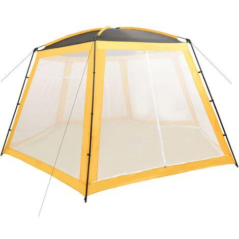 Tente de piscine Tissu 590x520x250 cm Jaune