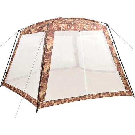 Tente de piscine Tissu 660x580x250 cm Camouflage