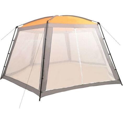 Tente de piscine Tissu 660x580x250 cm Gris