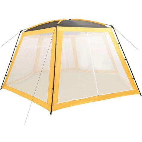 Tente de piscine Tissu 660x580x250 cm Jaune