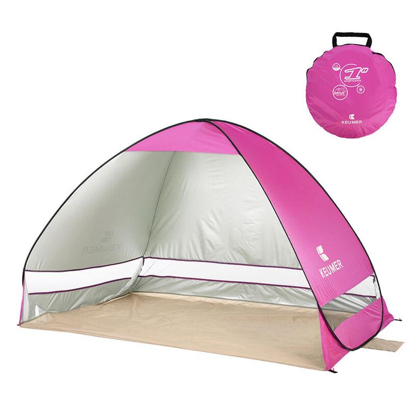 Tente De Plage Escamotable 78,7 X 47,2 X 51,2 Pouces, Cabine D'Ombrage Avec Protection Uv, Rose
