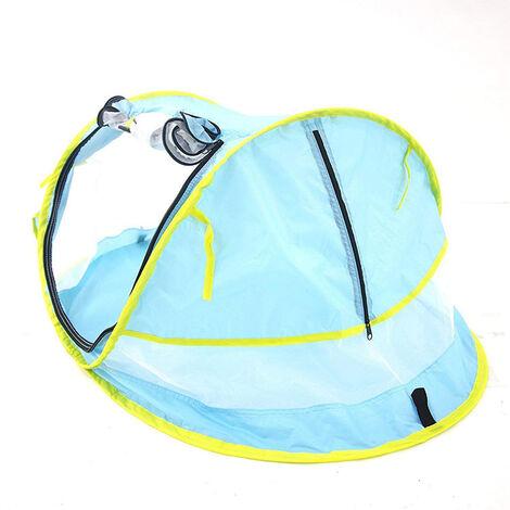 Tente de plage pliable pour enfants transfrontaliere nouvelle tente bebe UV50 + moustiquaire multifonctionnelle lit mobile bebe bleu