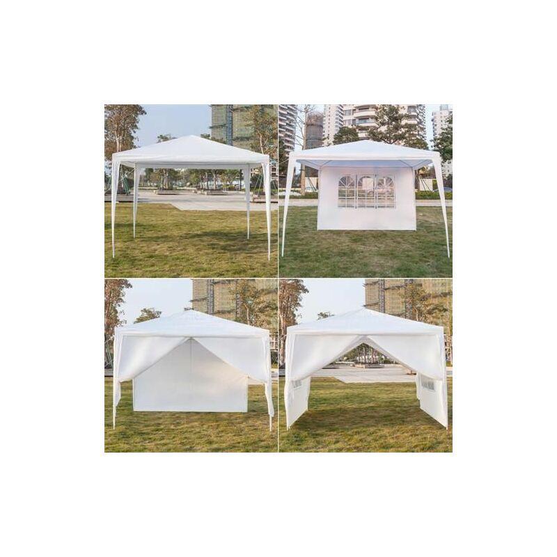 Tente de réception et barnum Pavillon 3x3m, pavillon flexible, pavillon de jardin étanche à quatre c?tés