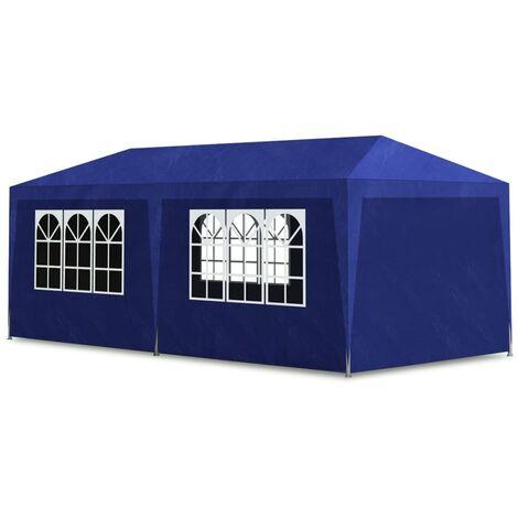 Tente de réception 3 x 6 m Bleu