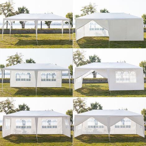 """main image of """"Tente de réception 3 x 6 m six c?tés à utiliser comme pavillon pergola blanc"""""""