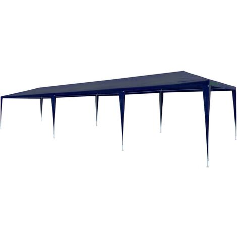 Tente de réception 3 x 9 m PE Bleu