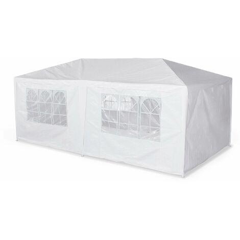 Tente de réception 3x6m - Aginum - Blanc - à utiliser comme pavillon, pergola, chapiteau ou tonnelle.