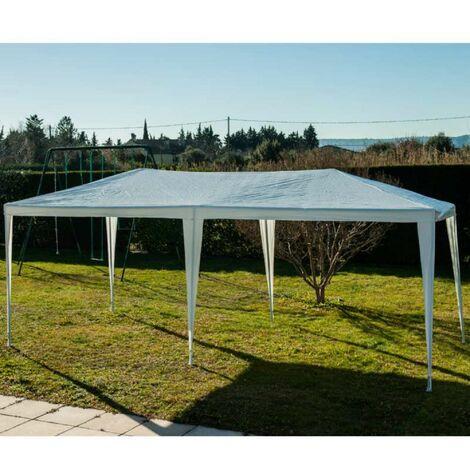 Tente de réception 3x6m blanche - Blanc