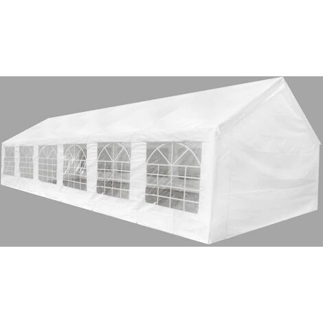 Tente de réception blanche 12 x 6 m