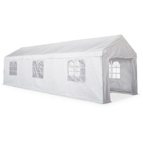 Tente de réception - Burdigala 3x9m - Blanc connecteurs métal tente de jardin idéale pour réception à utiliser comme pavillon pergola chapiteau ou tonnelle