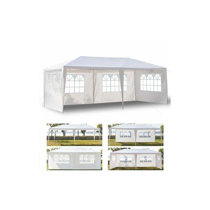 Tente de réception et barnum Pavillon 3x6m, pavillon flexible, pavillon flexible, pavillon de jardin étanche à 4 c?tés