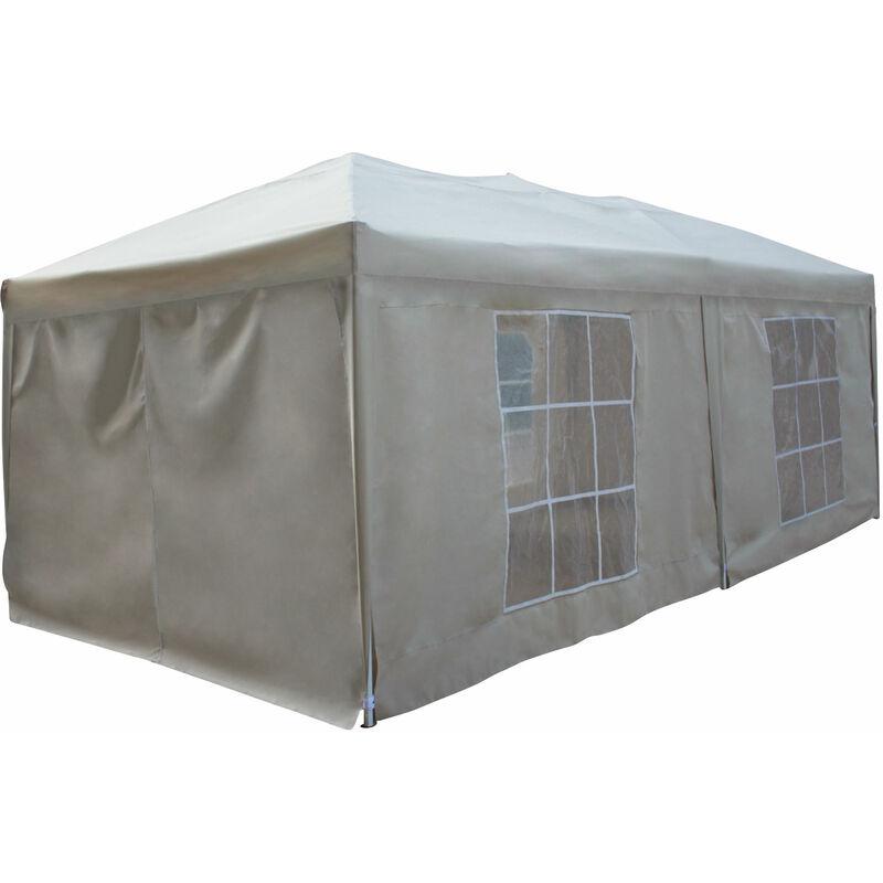 Happy Garden - Tente de réception MISTRAL pliante 3 × 6m Beige avec panneaux - Beige
