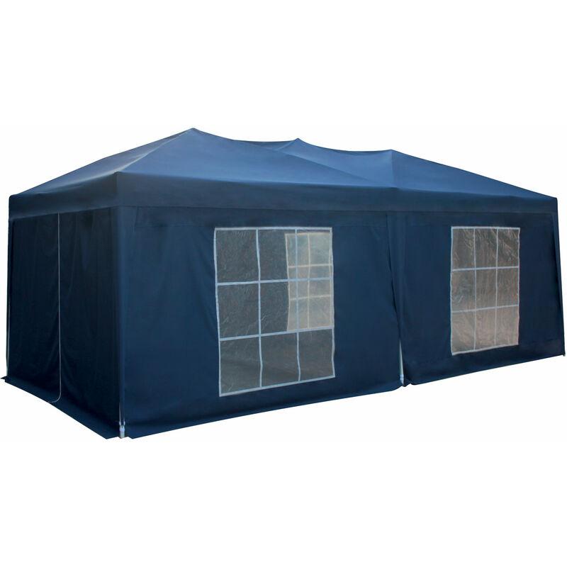 Tente de réception MISTRAL pliante 3 × 6m bleu avec panneaux - Bleu
