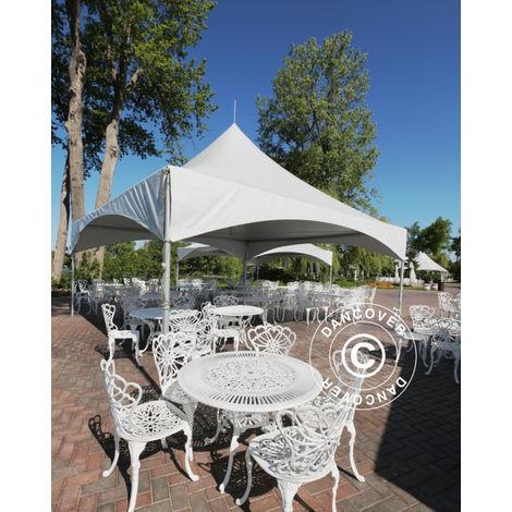 Tente de réception Pagode PartyZone 4x4m, PVC, Blanc