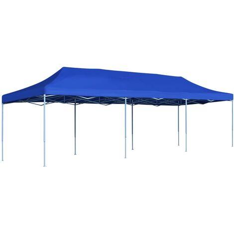 Tente de réception pliable 3x9 m Bleu