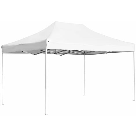 Tente de réception pliable Aluminium 4,5x3 m Blanc