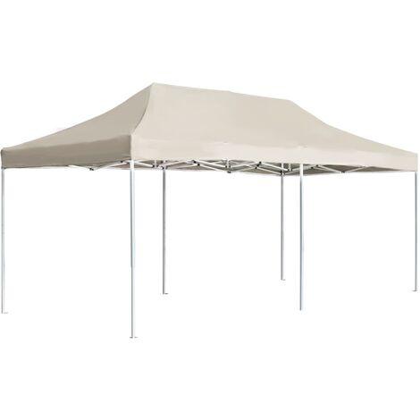 Tente de réception pliable Aluminium 6 x 3 m Crème
