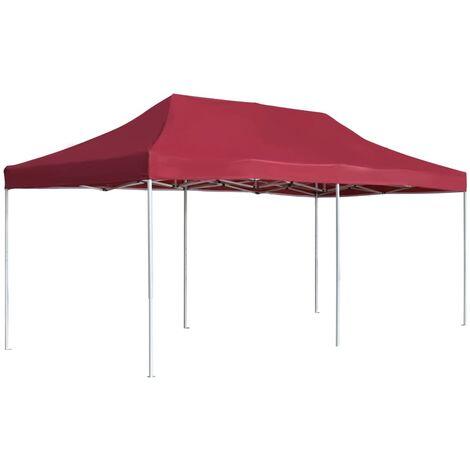 Tente de réception pliable Aluminium 6x3 m Bordeaux