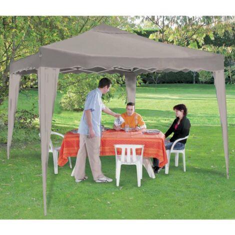 Tente de réception pliable couleur taupe 3x3m Werkapro