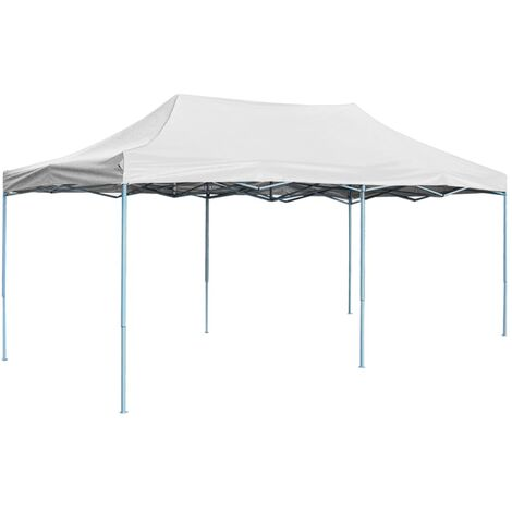 Tente de réception pliable professionnelle 3x6 m Acier Blanc