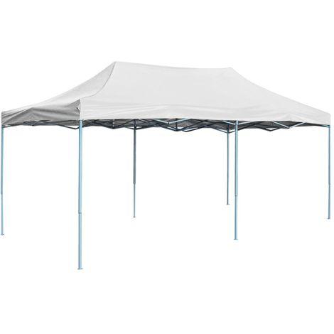 Tente de reception pliable professionnelle 3x6 m Acier Blanc
