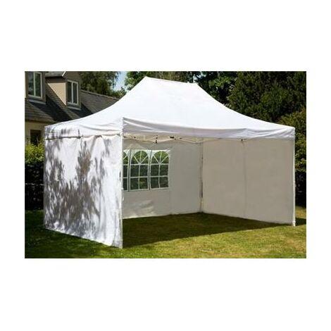 Tente de réception pliante 3x4,5m polyester 260g/m2 revêtement PVC avec 4 côtés