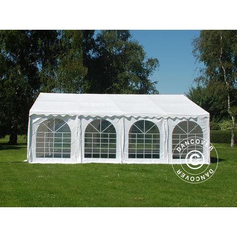 Tente de réception SEMI PRO Plus 4x8m PVC, Blanc