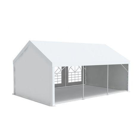 Tente de réception tonnelle en acier 50mm et bâches PVC 500g/m² œillets inox Chapiteau Barnum Tonnelle Blanc - 5x8m