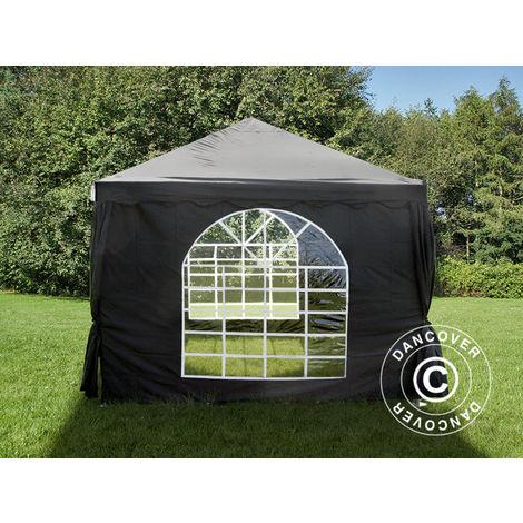 Tente de réception UNICO 3x3m, Noir