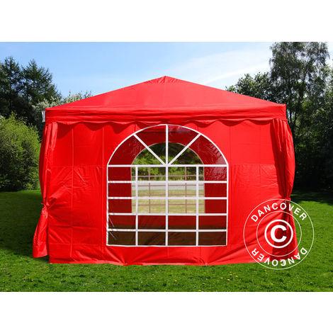 Tente de réception UNICO 3x3m, Rouge