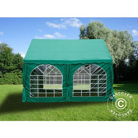 Tente de réception UNICO 4x4m, Vert foncé
