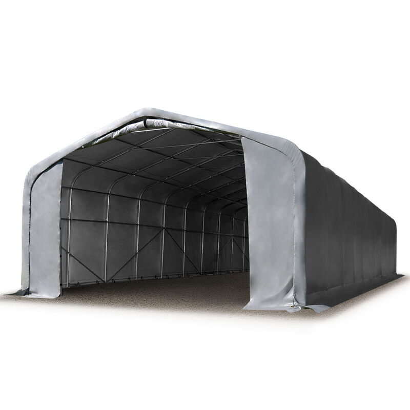 Intent24.fr - 6x24m hangar INTENT24, porte 4,1x2,9m, toile PVC de 720, anti-feu